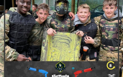 A fun day with the kids at our Gotcha Junior Paintballing parties